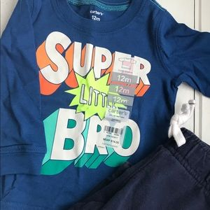 *NWT* 12mo_ little bro outfit 💙💙